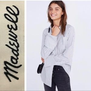 MADEWELL BRISTOL OVER SIZE SHIRT BUTTON DOWN TOP